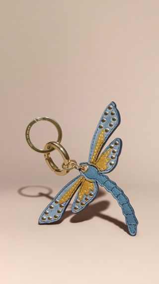 Dragonfly Key Charm in Leather and Suede
