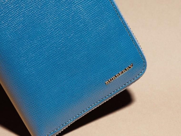 Bleu minéral Portefeuille zippé en cuir London - cell image 1
