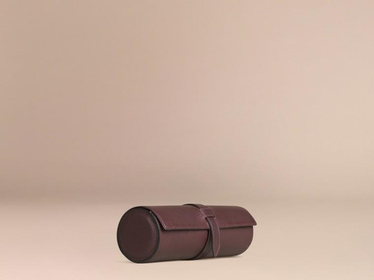 Rosso ebano Custodia per orologi in pelle a grana Rosso Ebano - cell image 2