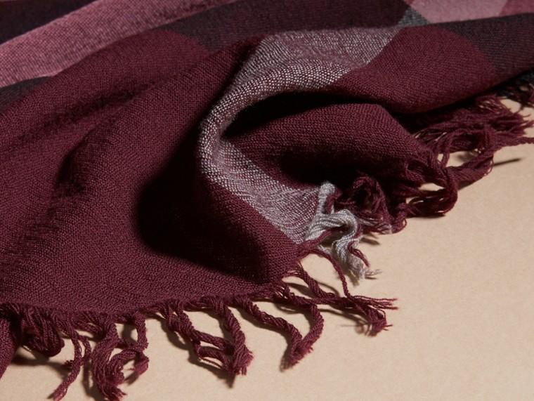 Garnet pink Check Wool Square - Large Garnet Pink - cell image 1