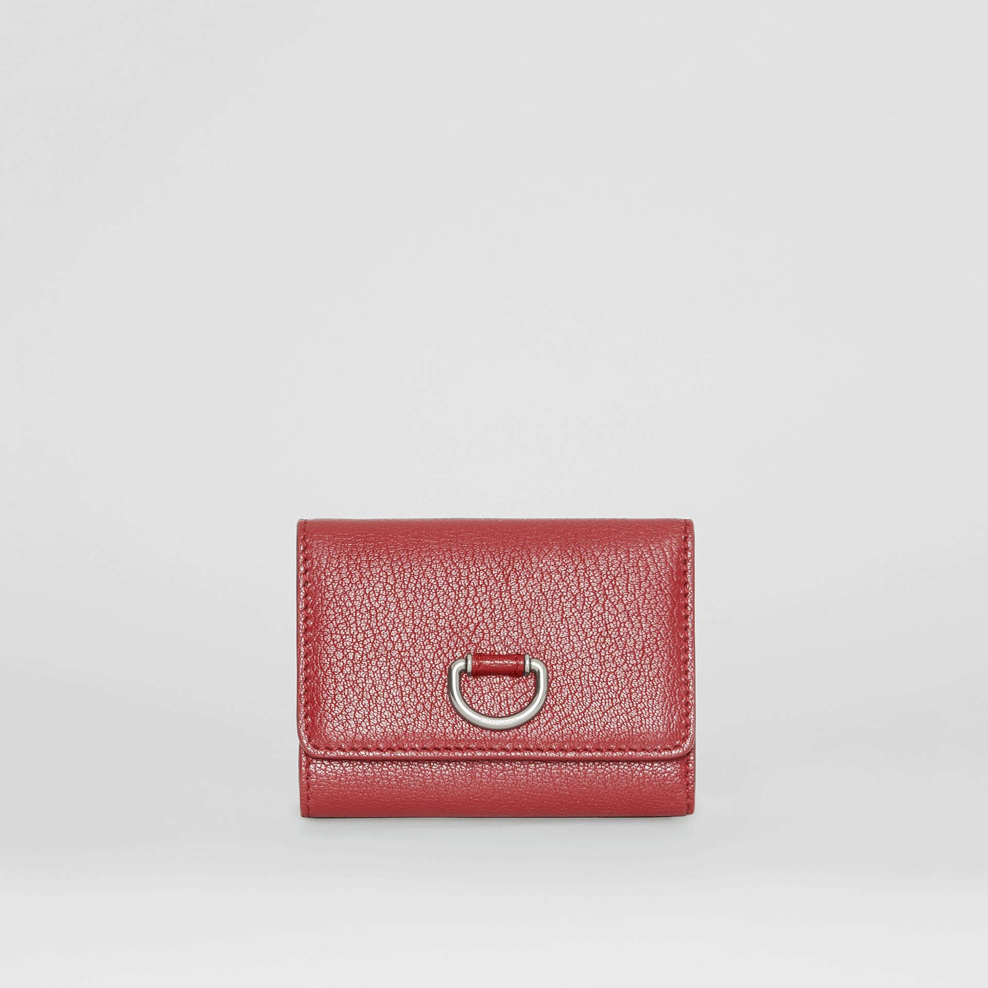 Small D-ring Leather Wallet in Crimson - Women | Burberry - gallery image 0