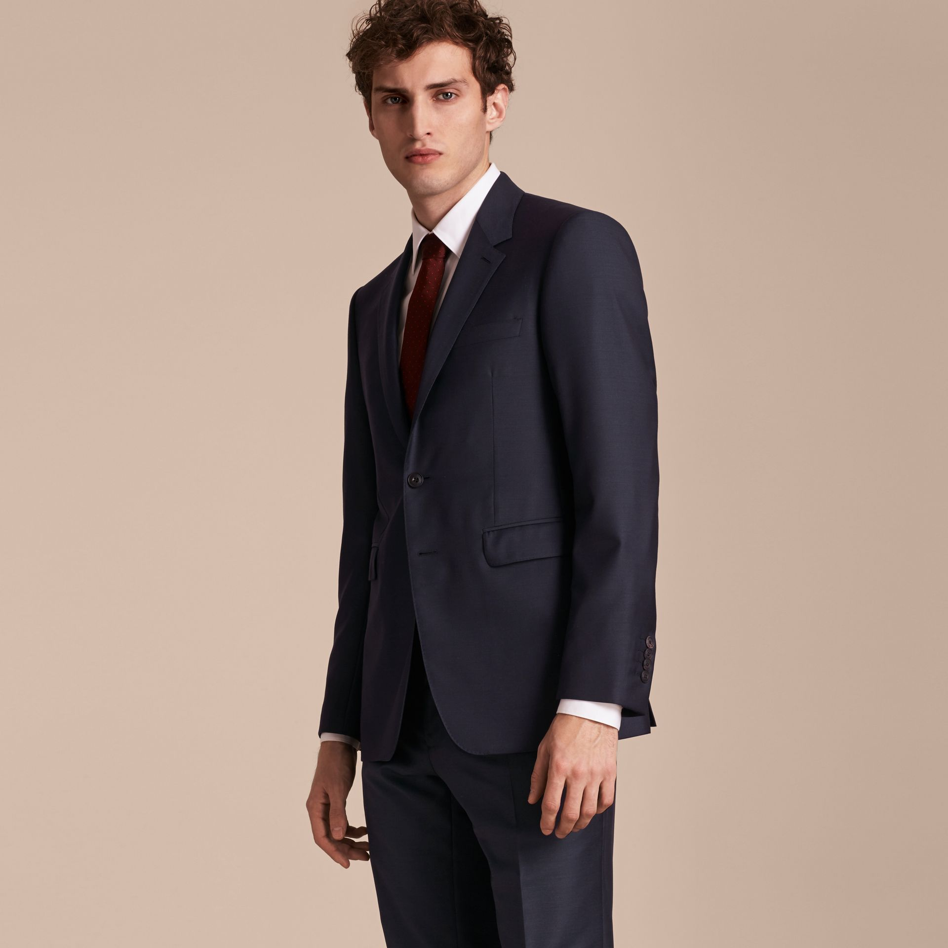 Modern Fit Wool Silk Full-canvas Suit - gallery image 8