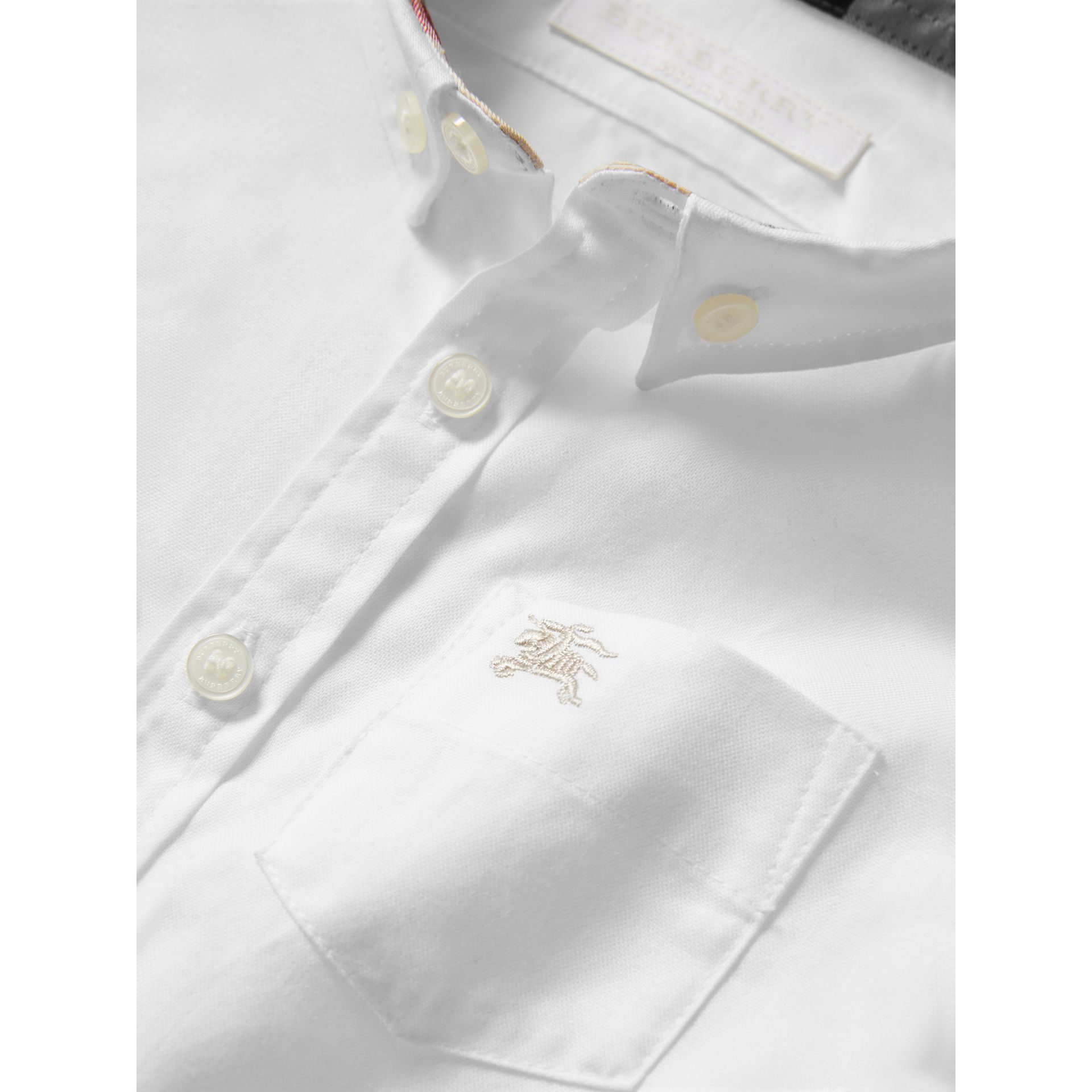 Cotton Oxford Shirt in White - Boy | Burberry Hong Kong - gallery image 1