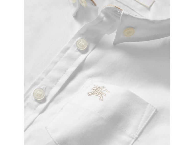Cotton Oxford Shirt in White - Boy | Burberry - cell image 1