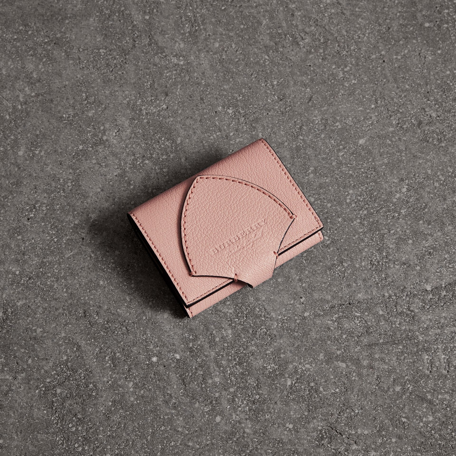 Equestrian Shield Leather Continental Wallet in Pale Ash Rose - Women | Burberry Hong Kong - gallery image 0