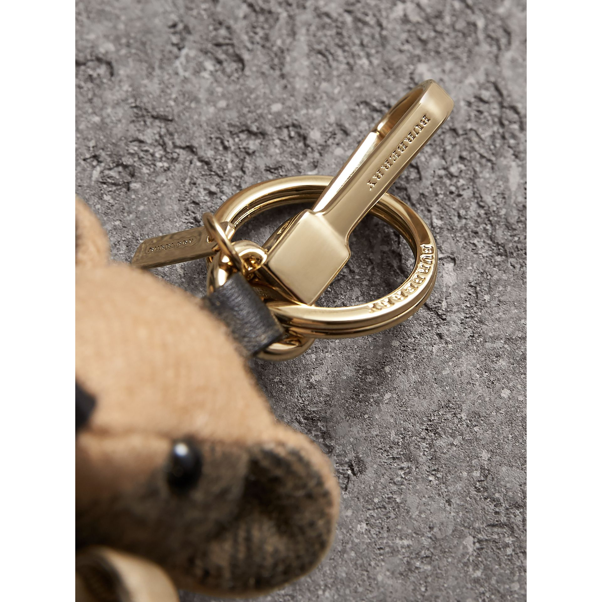 Thomas Bear Charm in Trench Coat in Camel | Burberry United Kingdom - gallery image 1