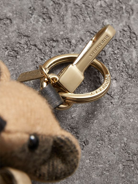 Thomas Bear Charm in Trench Coat in Camel | Burberry United Kingdom - cell image 1