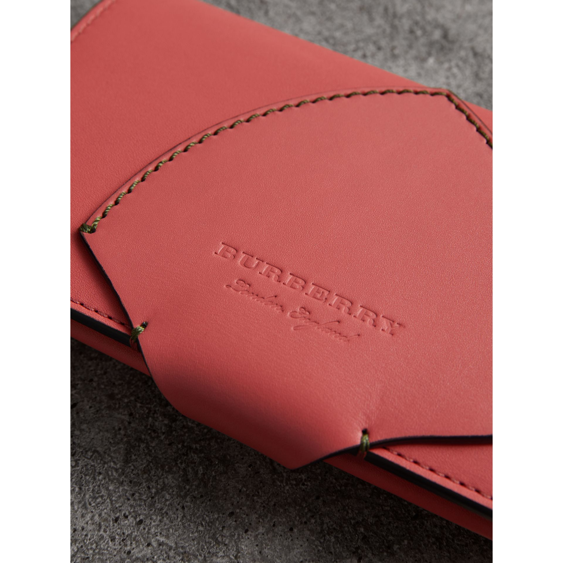 Equestrian Shield Two-tone Leather Continental Wallet in Peony Pink - Women | Burberry United Kingdom - gallery image 1