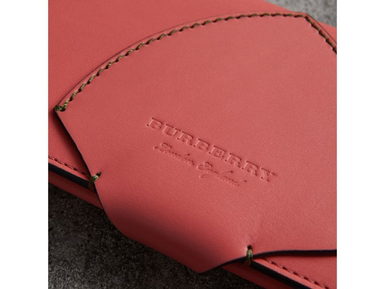 Equestrian Shield Two-tone Leather Continental Wallet in Peony Pink - Women | Burberry - cell image 1