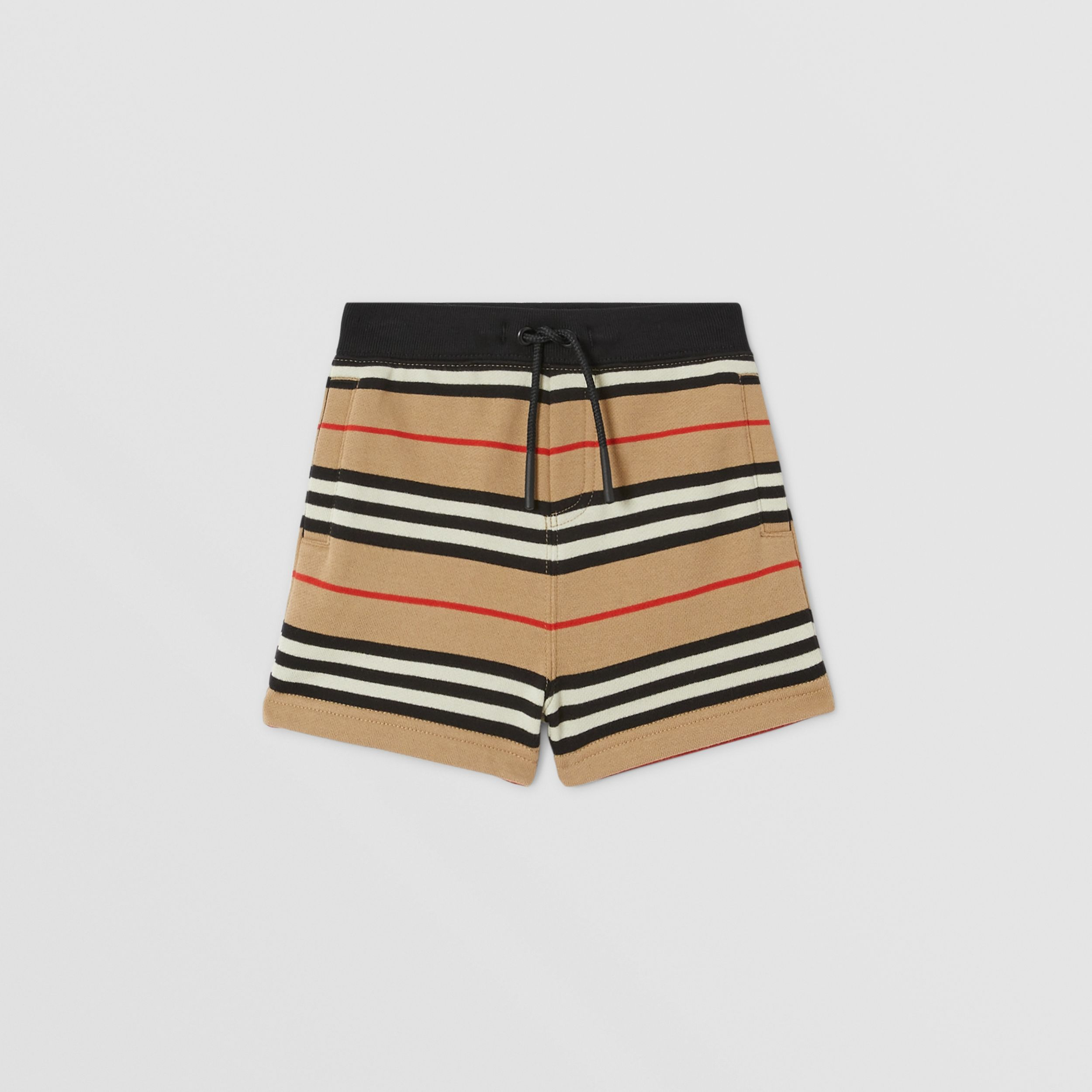 Icon Stripe Cotton Shorts in Archive Beige - Children | Burberry United Kingdom - 1