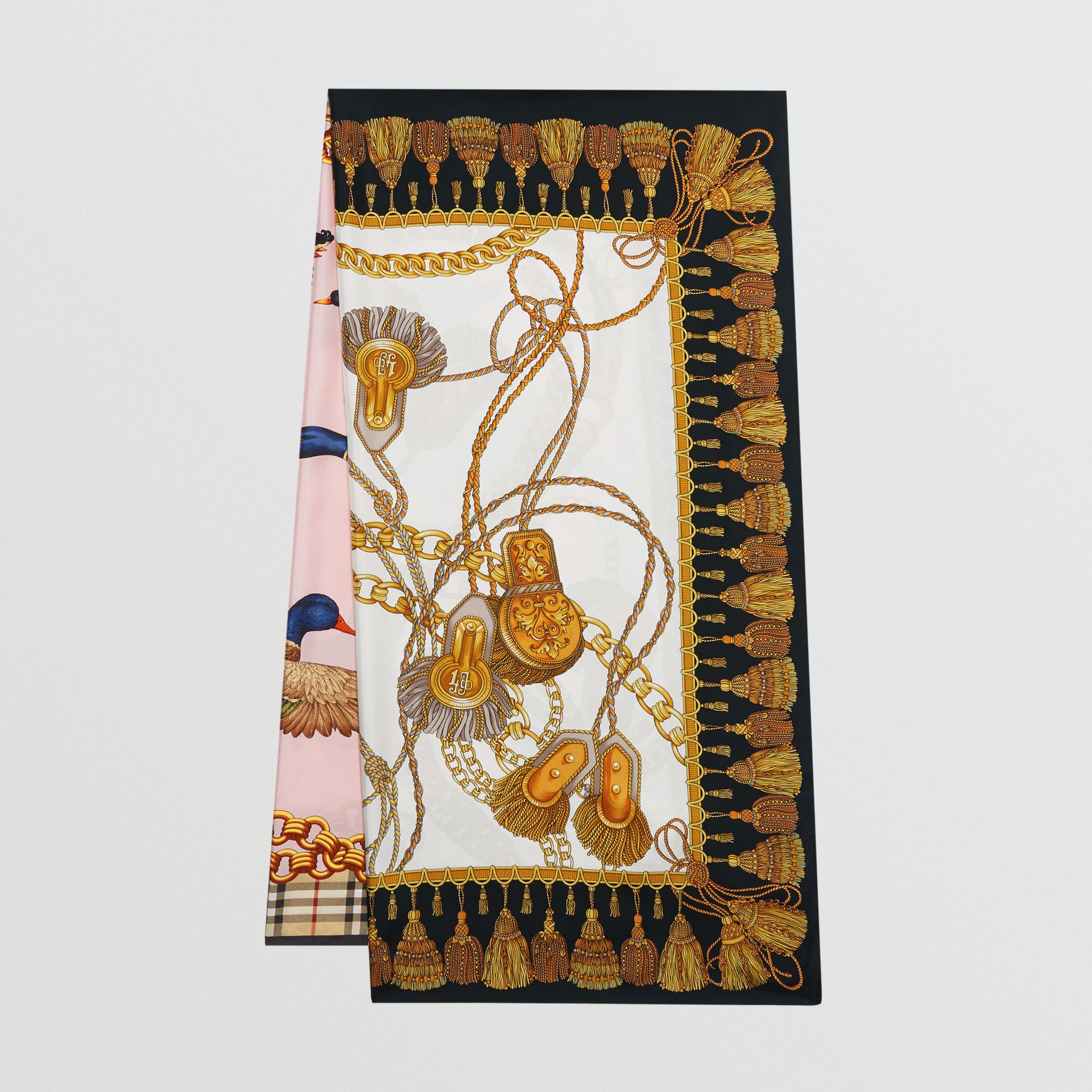 Archive Scarf Print Silk Scarf in Gold | Burberry - gallery image 0