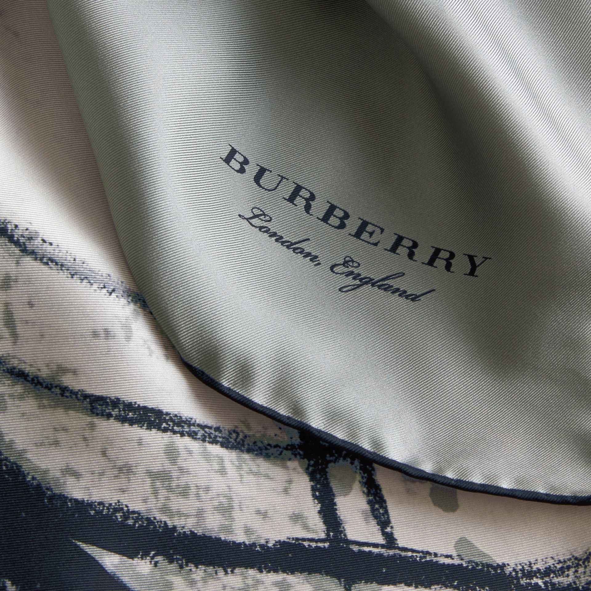 Pallas Helmet Motif Silk Square – Small in Grey - Women | Burberry - gallery image 2