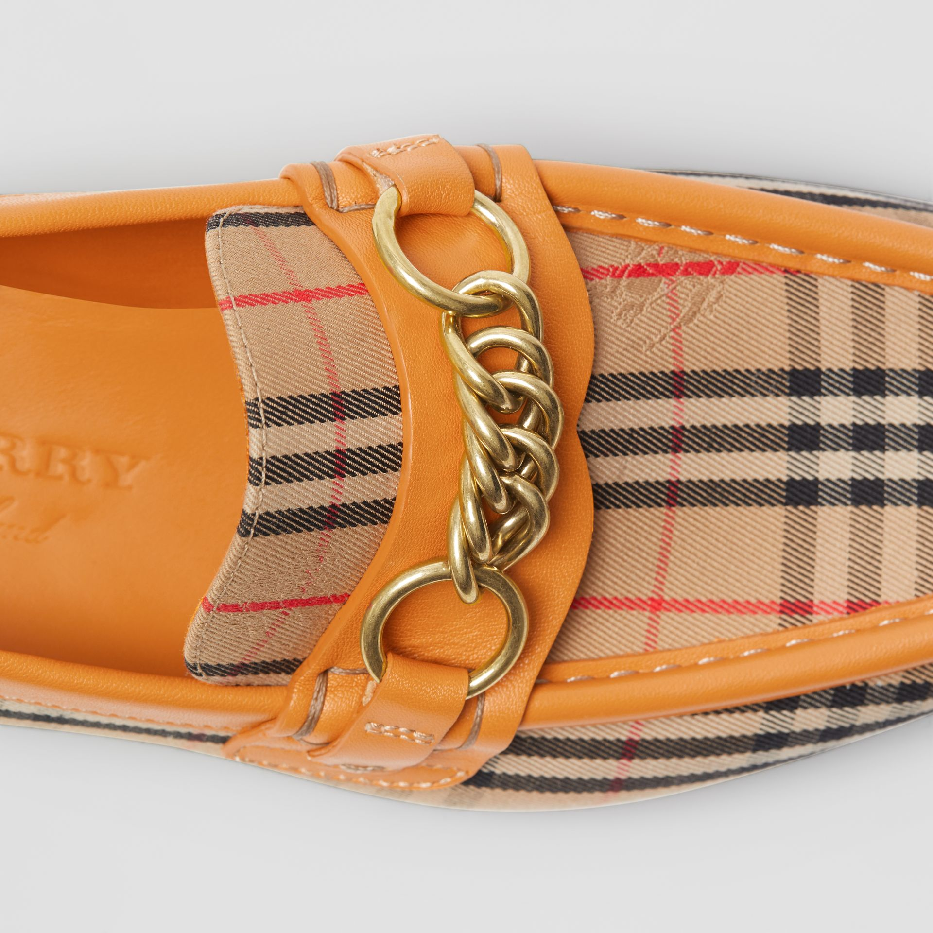 The 1983 Check Link Loafer in Yellow Barley - Women | Burberry - gallery image 1