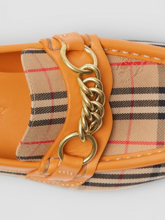 Mocassini The Link con motivo tartan del 1983 (Giallo Orzo) - Donna | Burberry - cell image 1