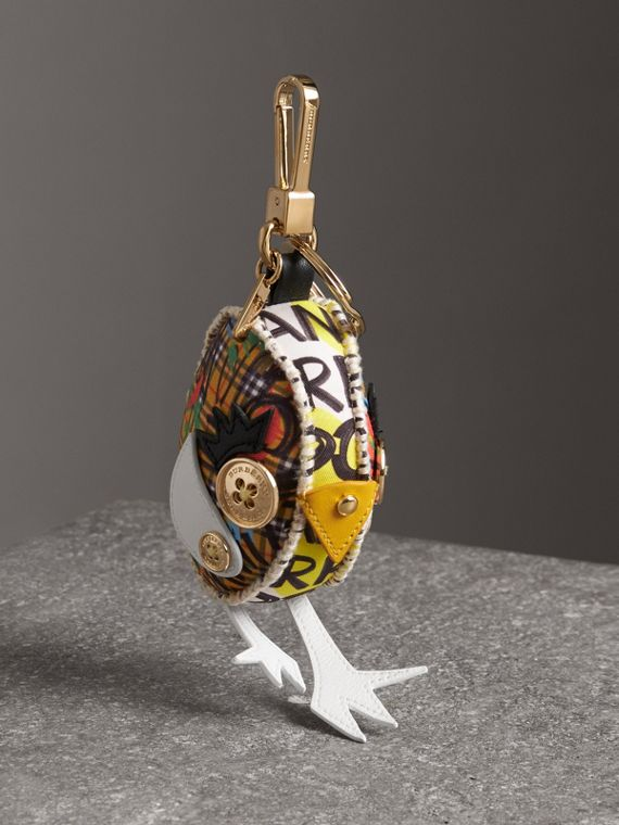 Derek The Bird Graffiti Print Cotton Charm in Yellow