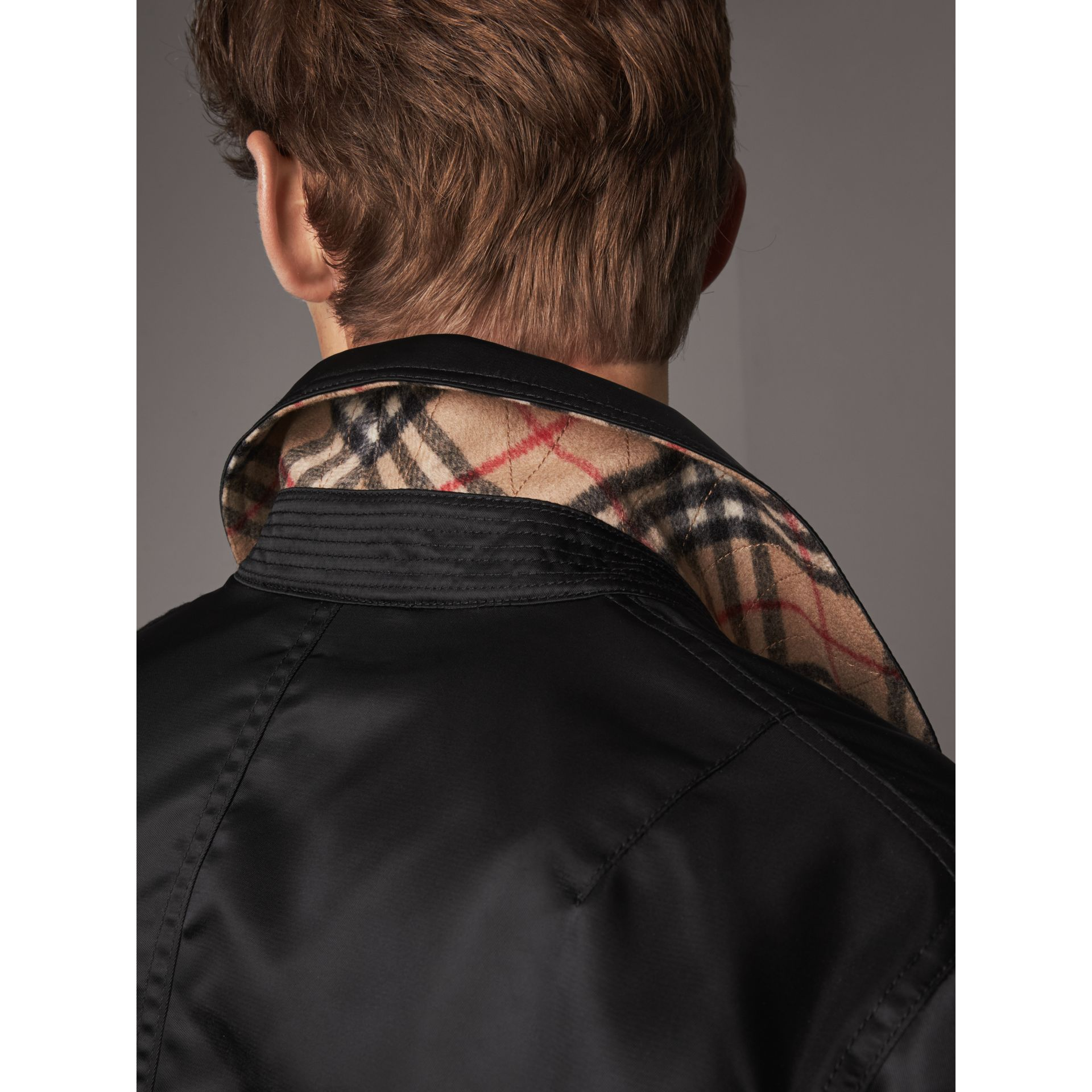 Point Collar Bomber Jacket in Black - Men | Burberry United States - gallery image 1