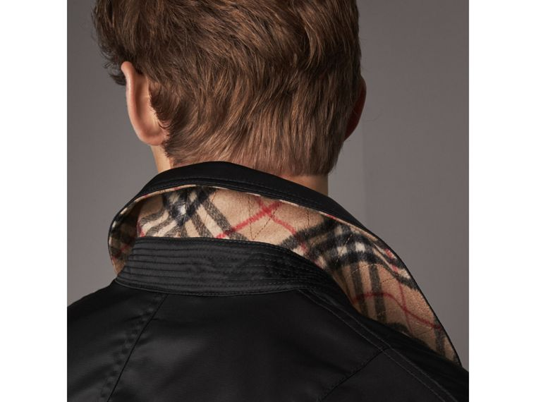 Point Collar Bomber Jacket in Black - Men | Burberry United Kingdom - cell image 1