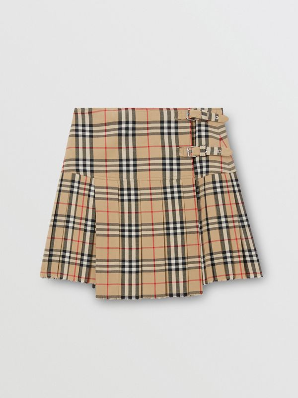Vintage Check Wool Kilt in Archive Beige - Women | Burberry United Kingdom - cell image 3