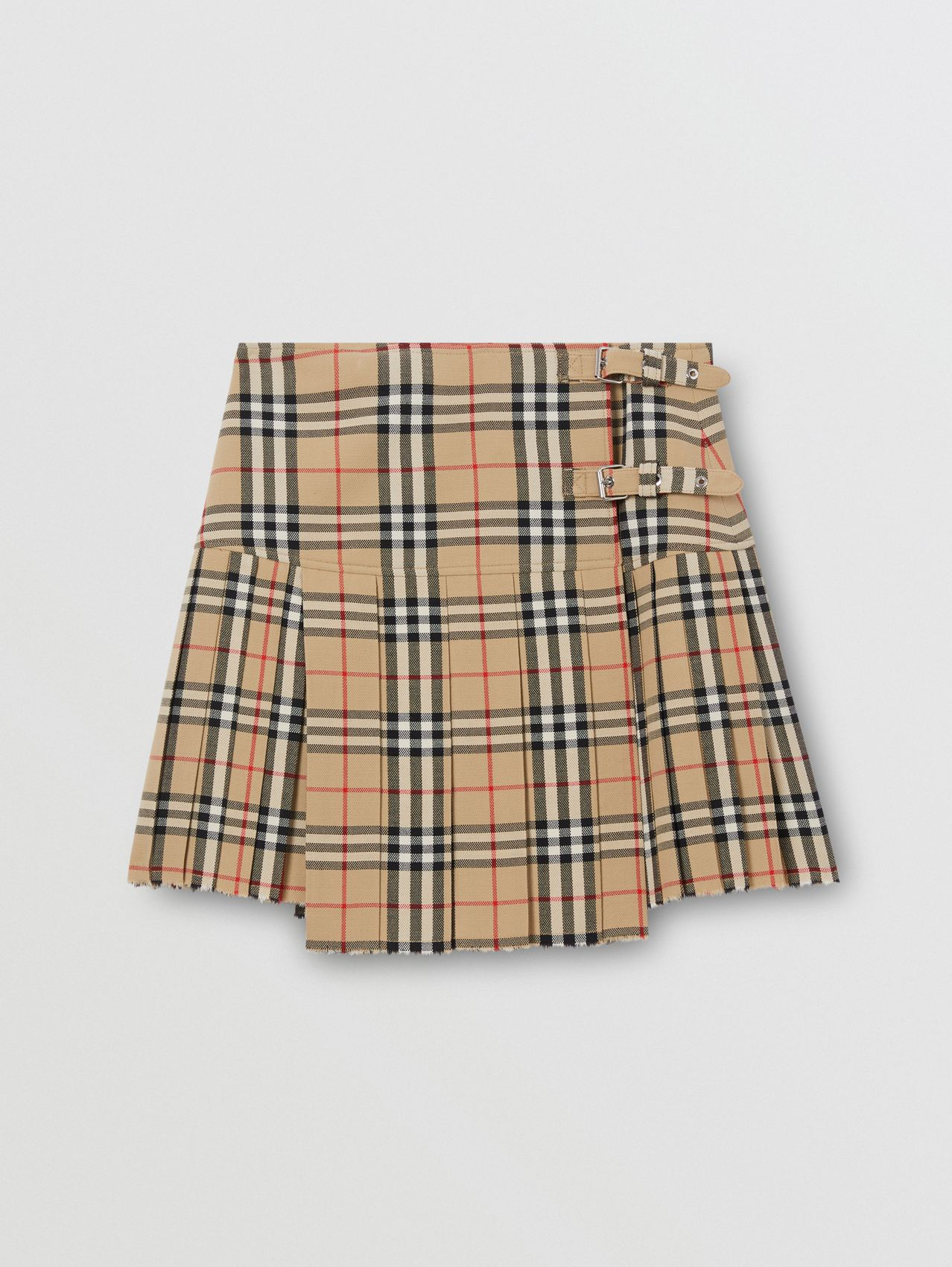Vintage Check Wool Kilt in Archive Beige