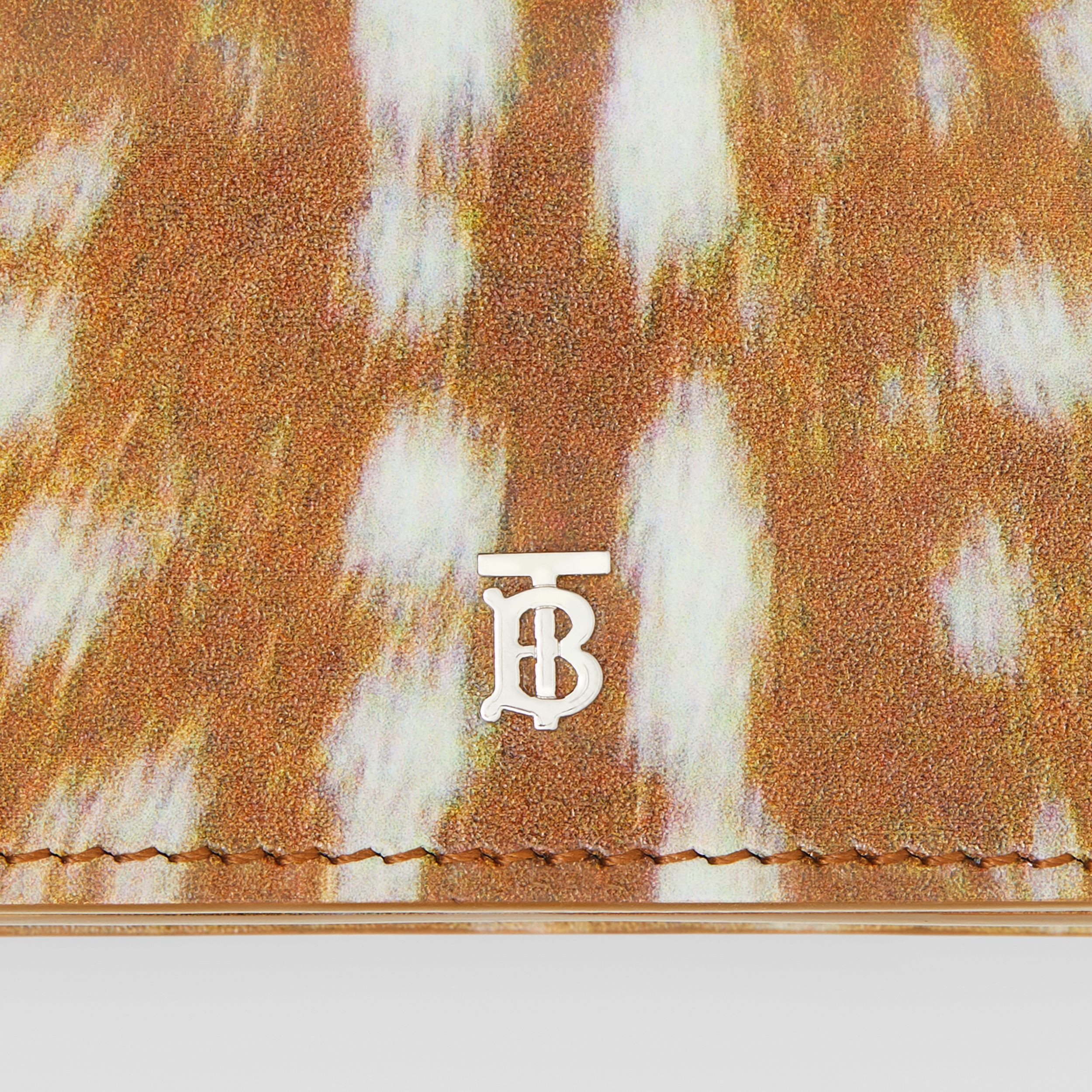 Deer Print Leather Card Case with Detachable Strap in Malt Brown - Women | Burberry Hong Kong S.A.R. - 2