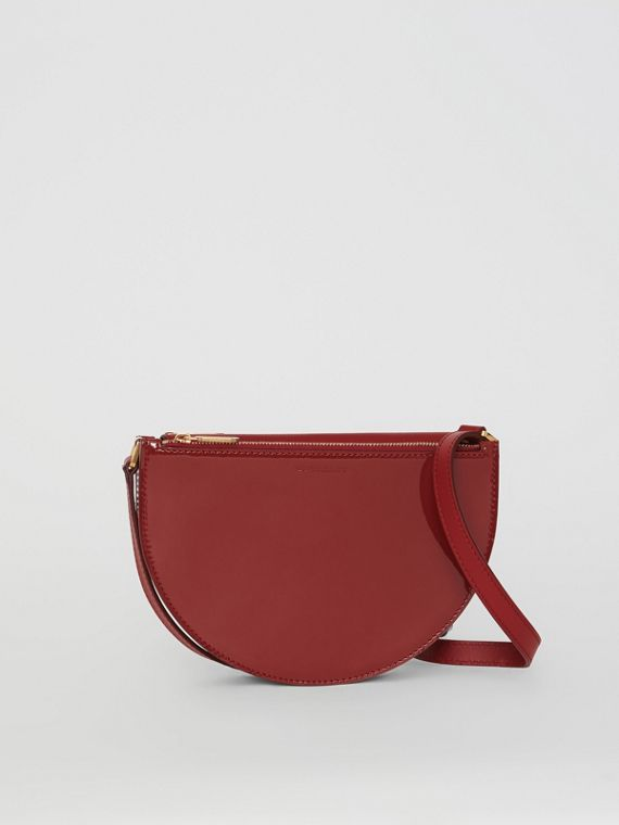 The Small Patent Leather D Bag in Crimson