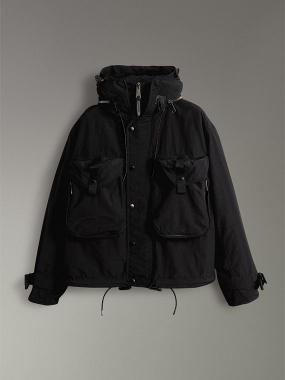 Showerproof Nylon Jacket with Gilet in Black - Men | Burberry - cell image 3