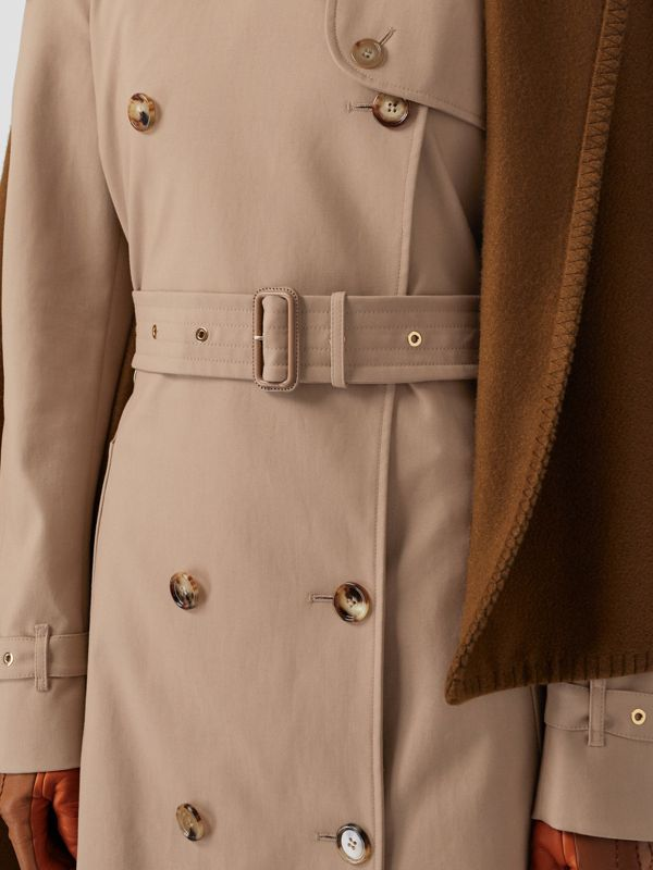 Blanket Detail Cotton Gabardine Trench Coat in Camel - Women | Burberry Australia - cell image 3