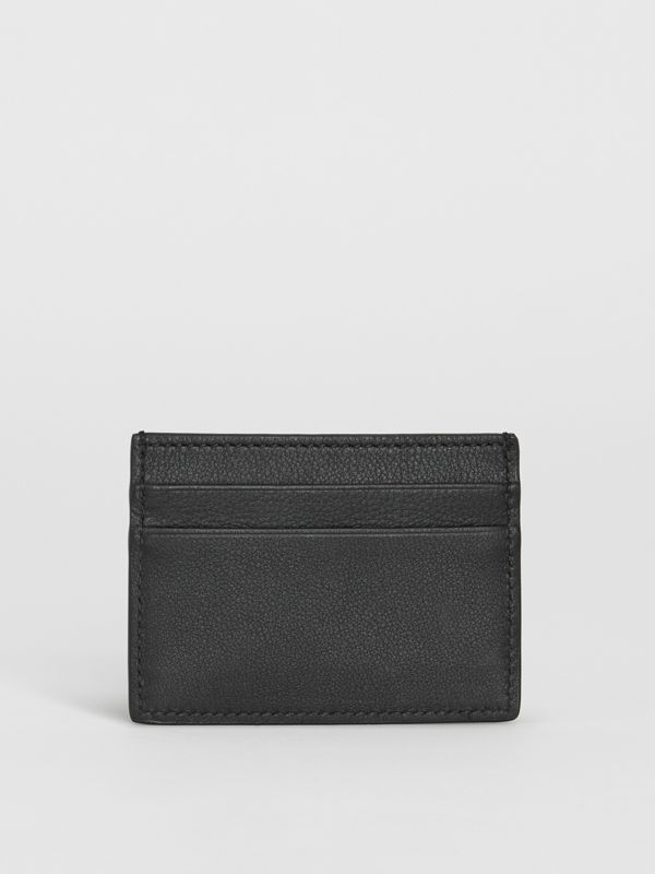 Embossed Crest Leather Card Case in Black - Men | Burberry - cell image 2