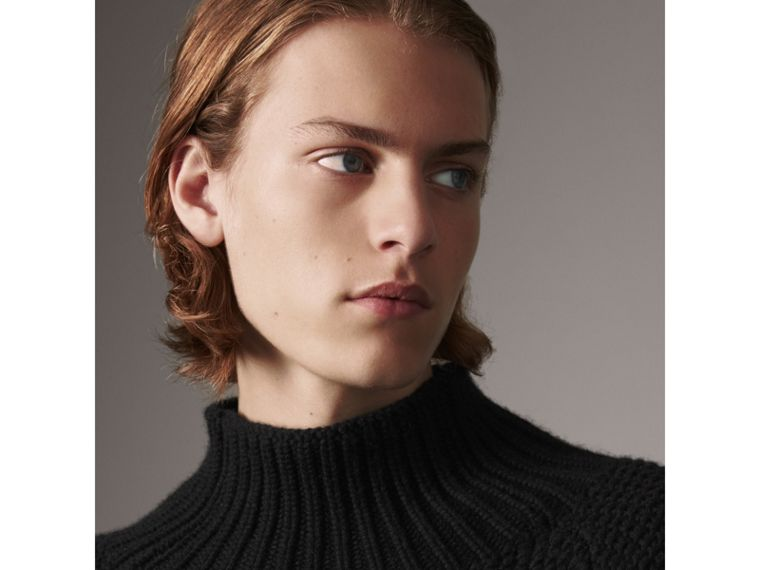 Cashmere Fisherman Sweater in Black - Men | Burberry Singapore - cell image 4