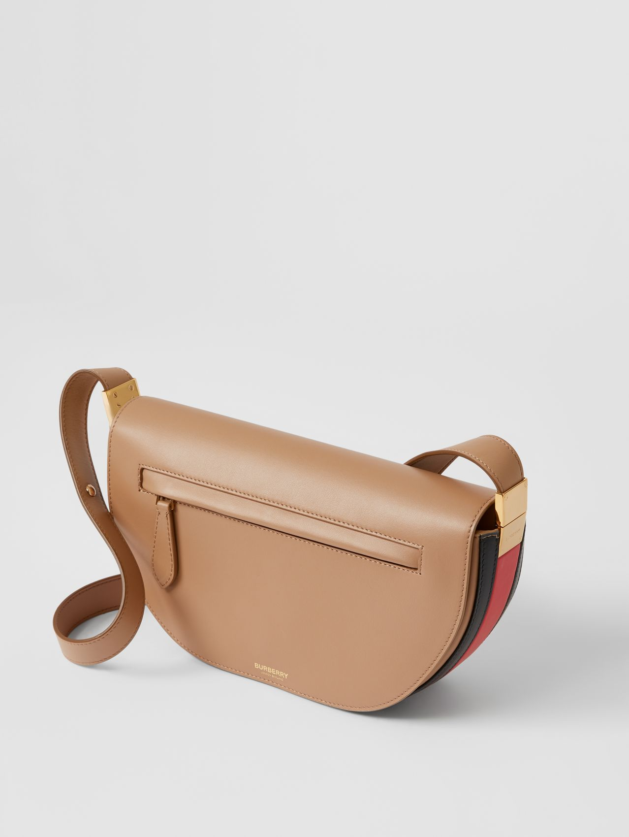 Small Leather Olympia Bag in Camel