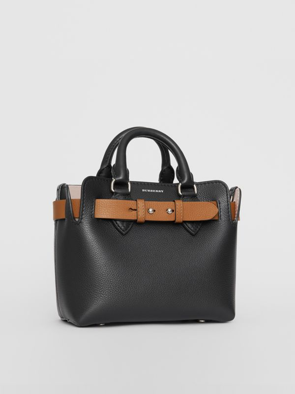 The Mini Leather Belt Bag in Black - Women | Burberry Australia - cell image 3
