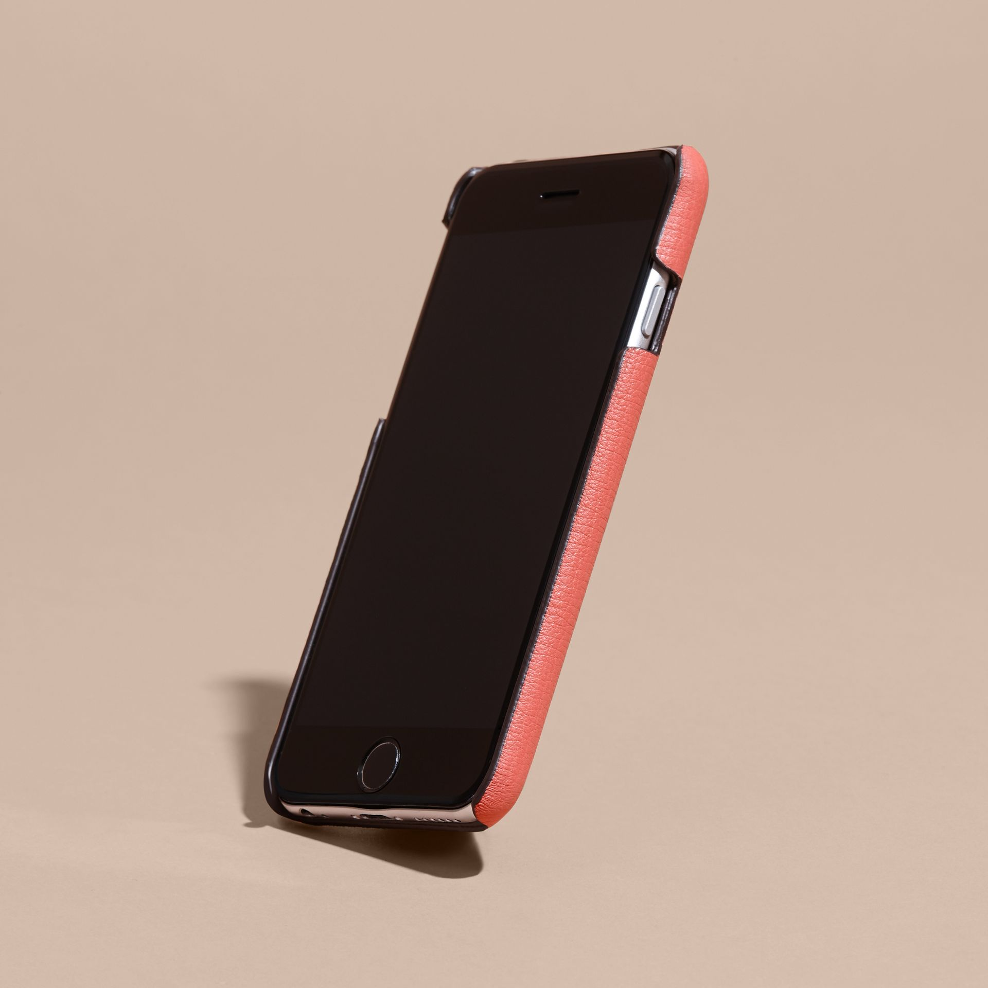 Grainy Leather iPhone 6 Case in Copper Pink - Women | Burberry Australia - gallery image 3