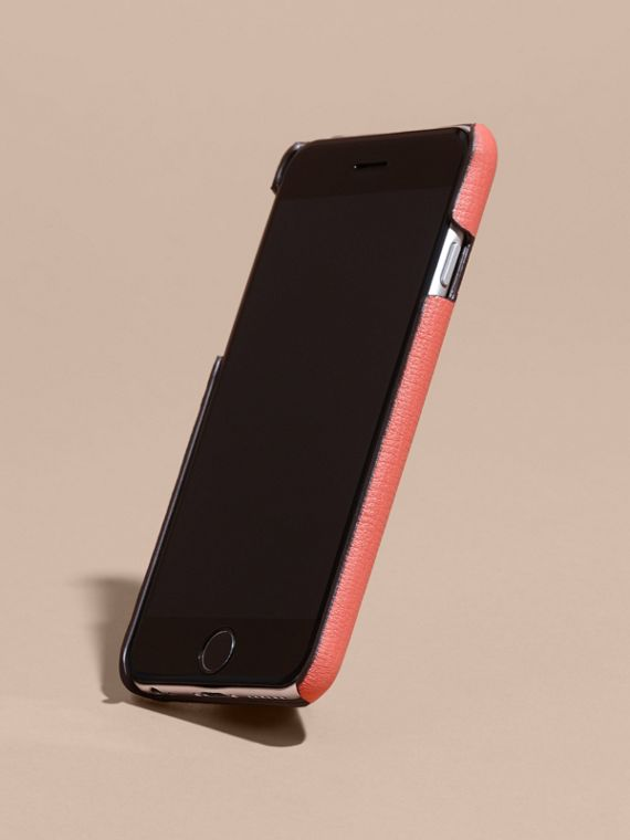 Grainy Leather iPhone 6 Case in Copper Pink - Women | Burberry Australia - cell image 2