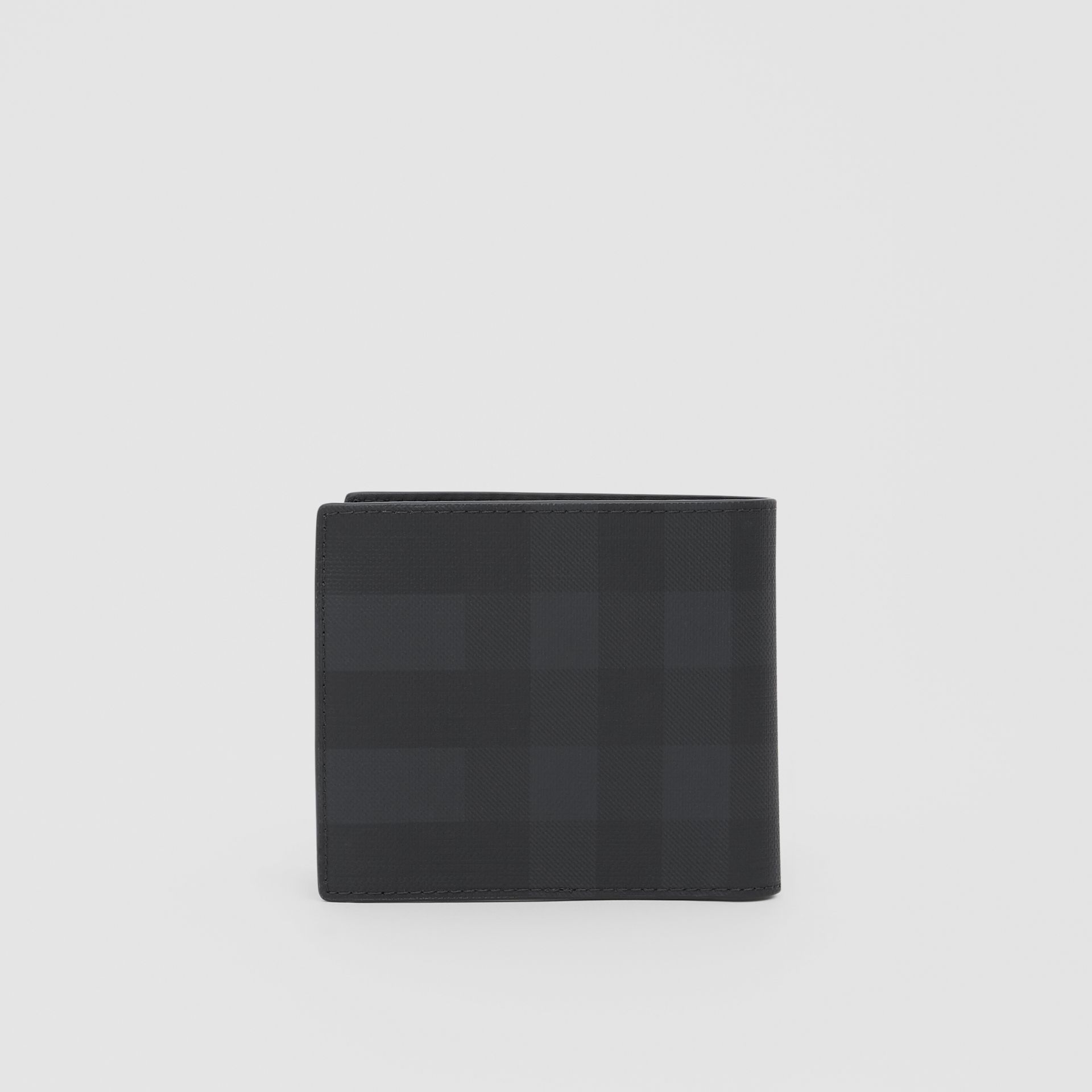 Logo Graphic International Bifold Coin Wallet in Dark Charcoal - Men | Burberry - gallery image 4