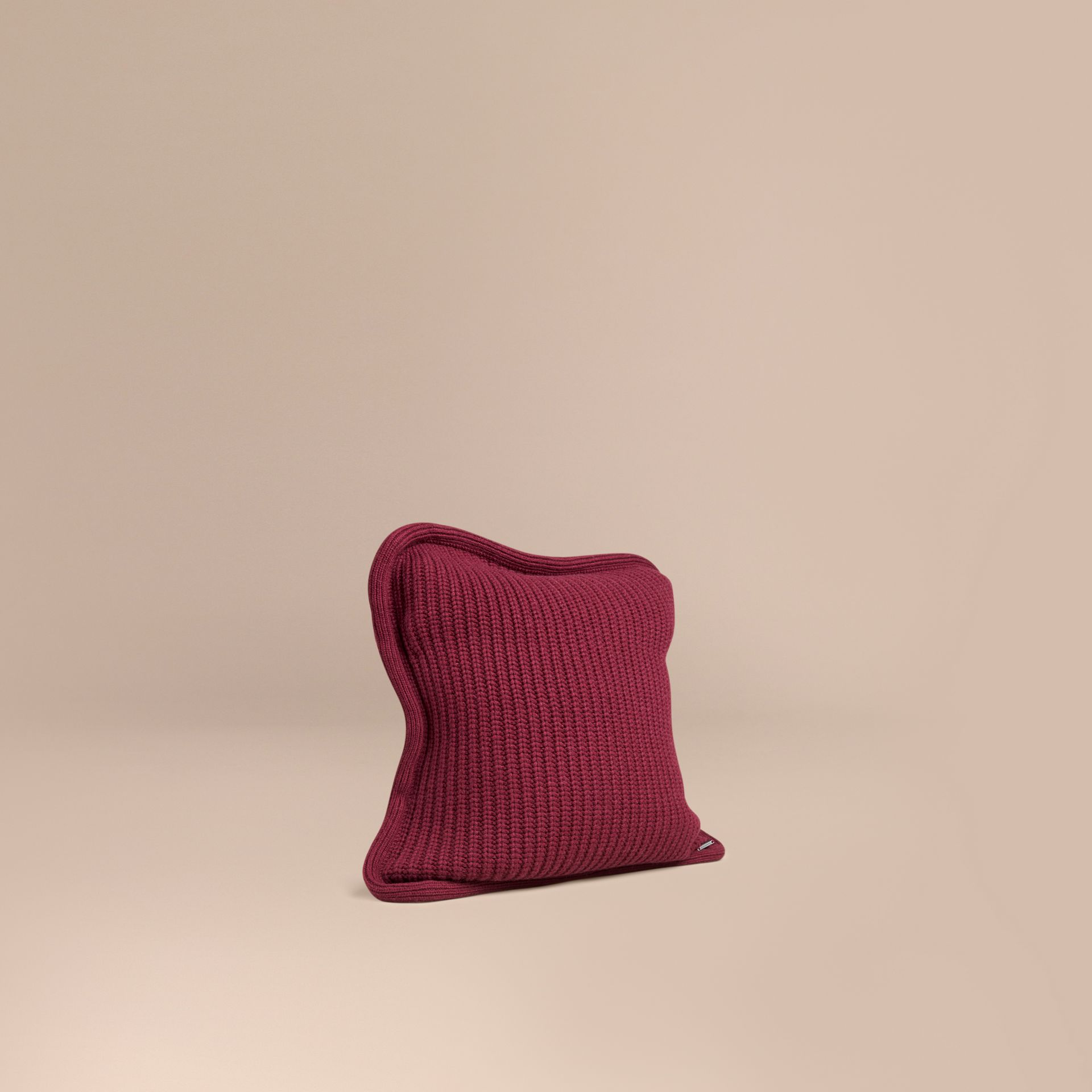 Deep claret Knitted Cashmere Cushion Cover Deep Claret - gallery image 1