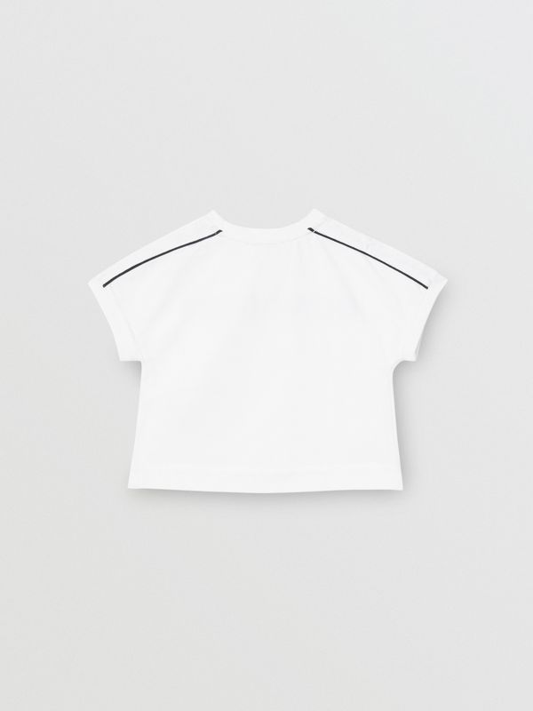 Logo Print Cotton T-shirt in White - Children | Burberry - cell image 3