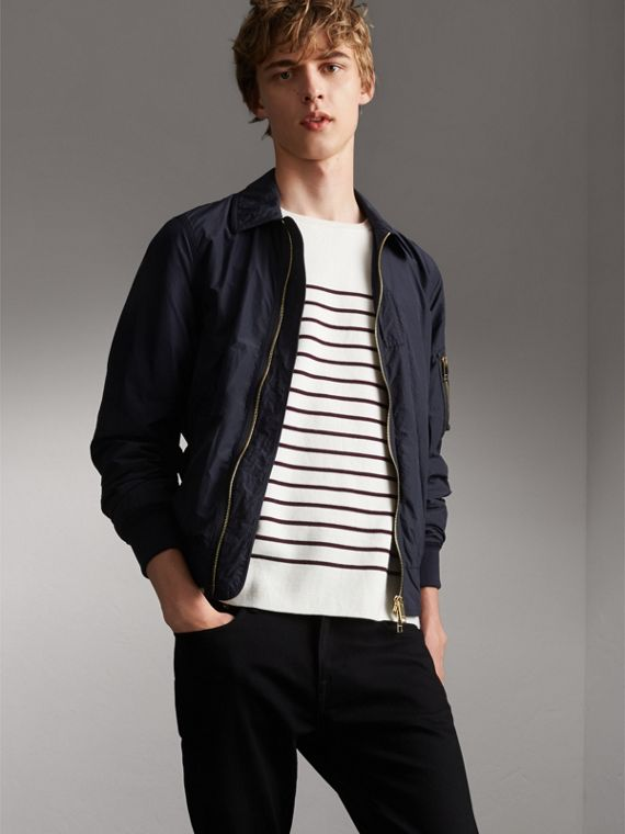 Seersucker Bomber Jacket - Men | Burberry