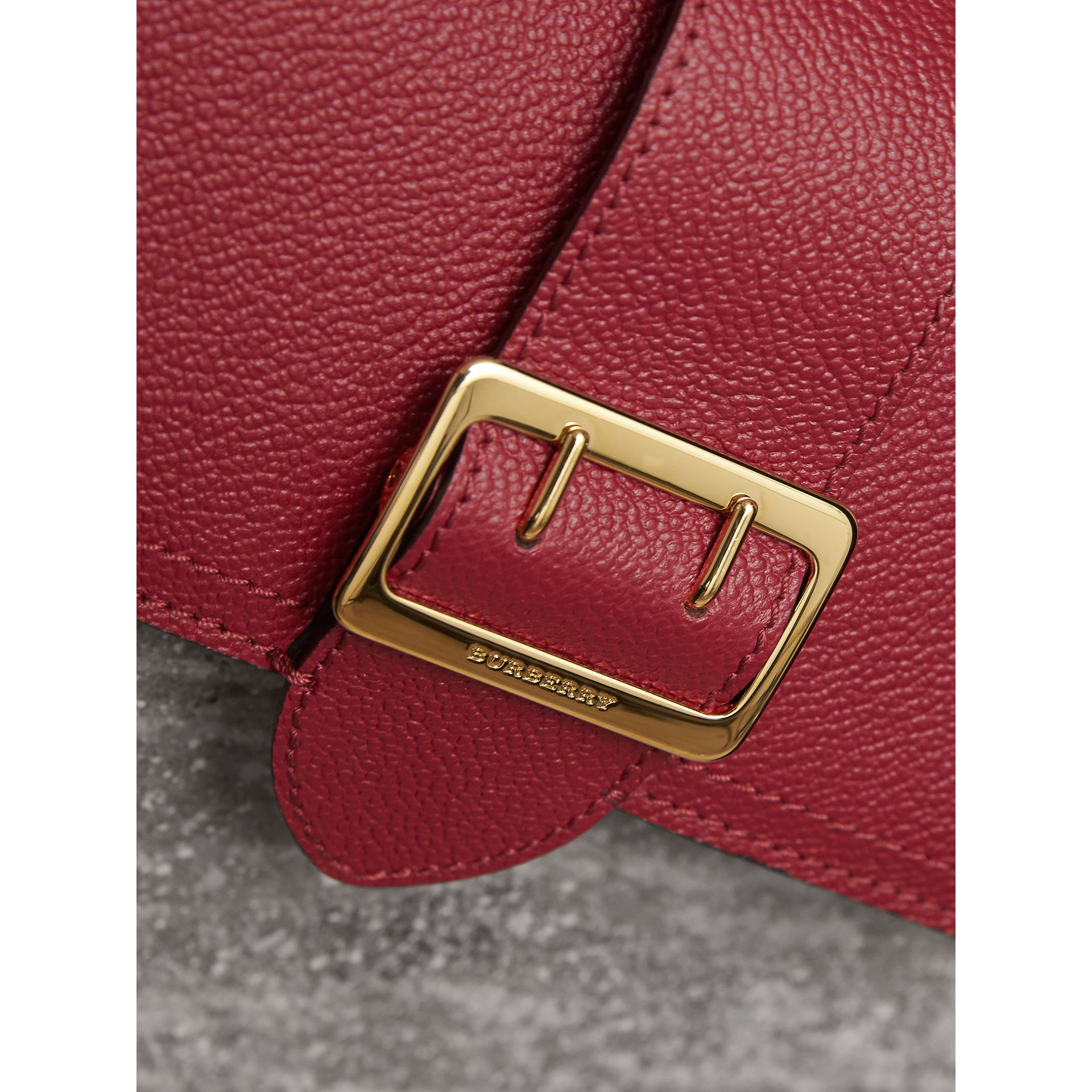 Textured Leather Continental Wallet in Parade Red - Women | Burberry Canada - gallery image 1