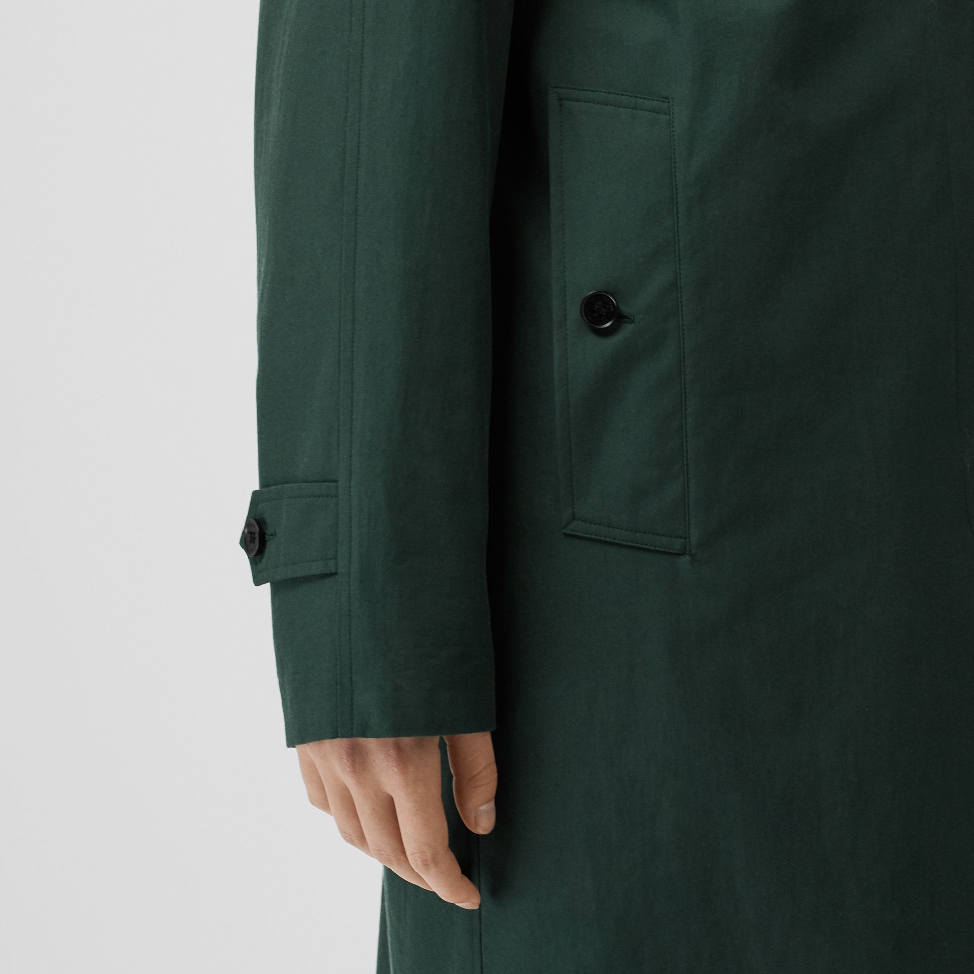 The Camden Car Coat in Dark Emerald - Women | Burberry - gallery image 4