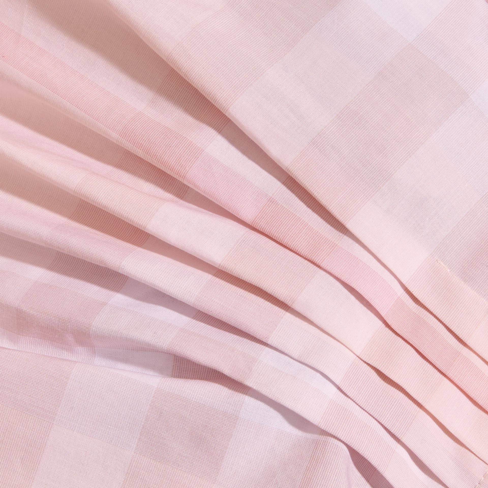 Check Cotton Pleat Dress in Ice Pink | Burberry - gallery image 2