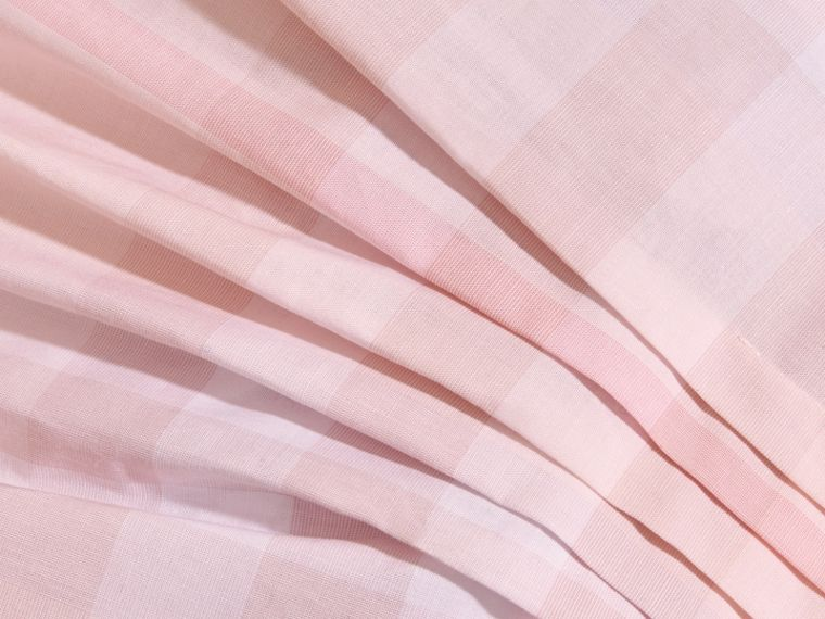Check Cotton Pleat Dress in Ice Pink | Burberry - cell image 1