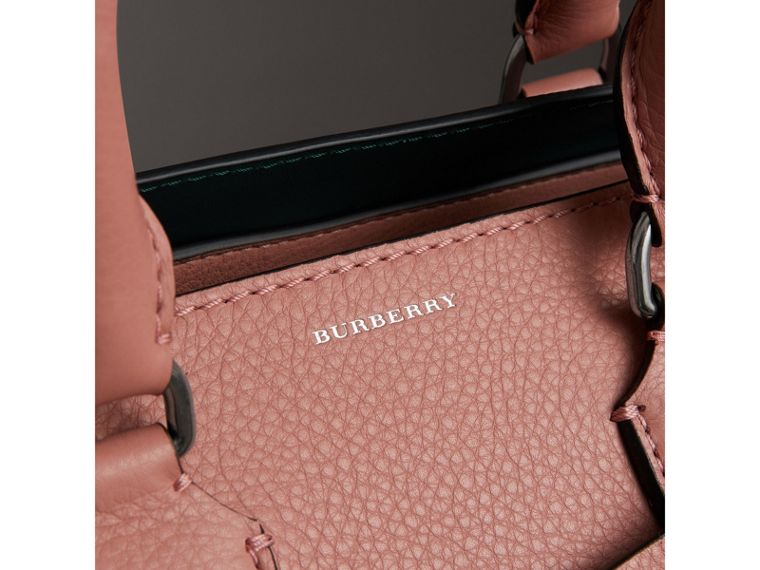 The Small Leather Belt Bag in Dusty Rose - Women | Burberry - cell image 1