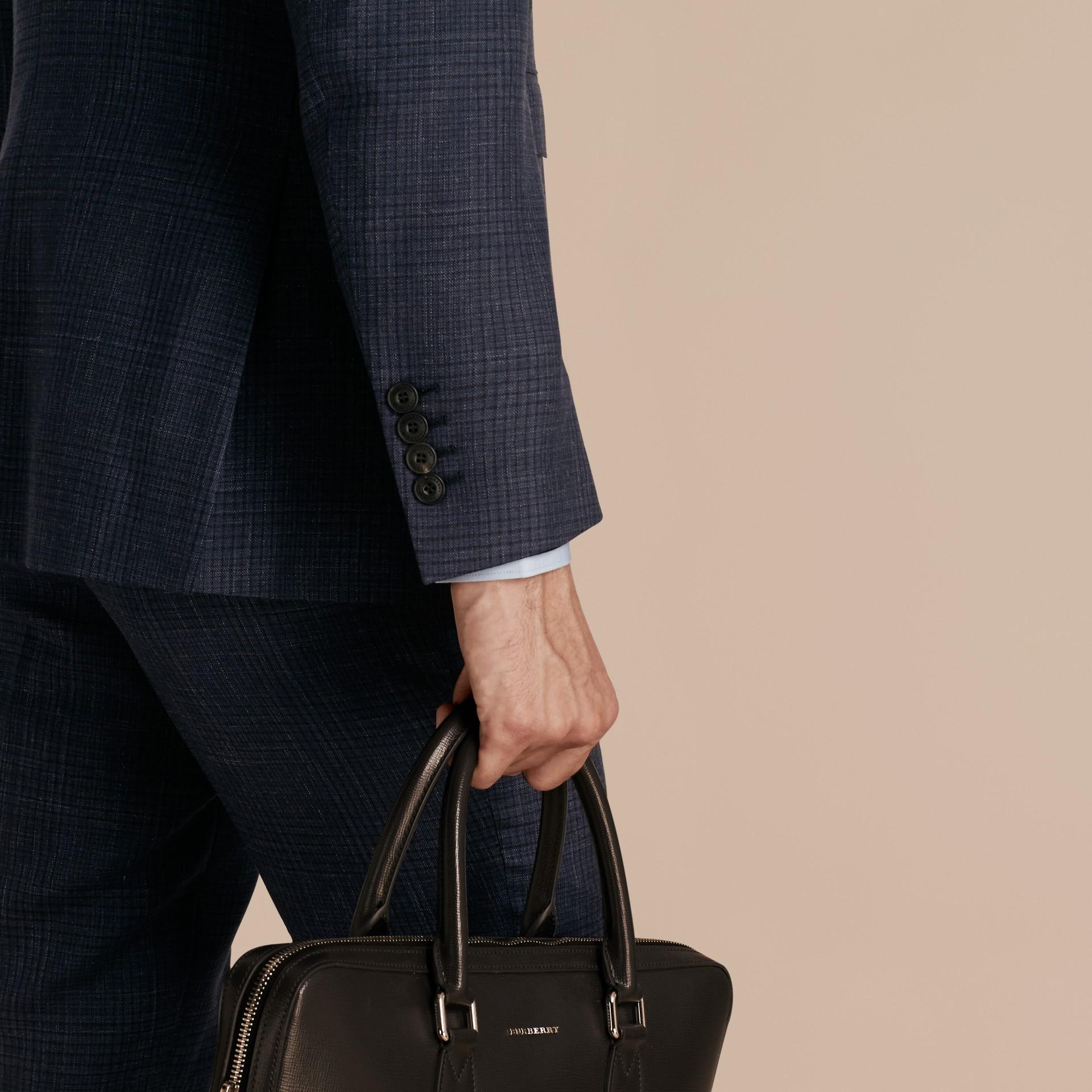 Modern Fit Wool Silk Blend Half-canvas Suit - gallery image 5