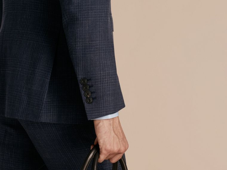 Modern Fit Wool Silk Blend Half-canvas Suit - cell image 4