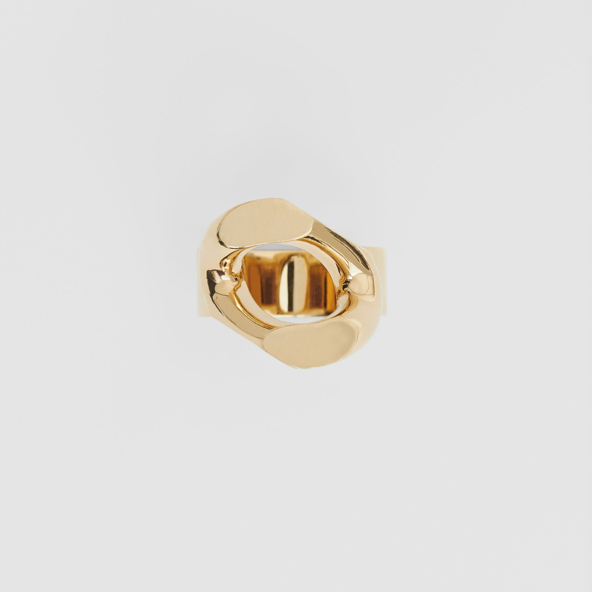 Gold-plated Chain-link Ring in Light - Women | Burberry Singapore - gallery image 3