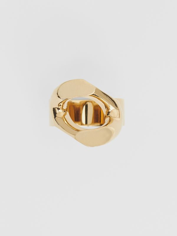 Gold-plated Chain-link Ring in Light - Women | Burberry - cell image 3