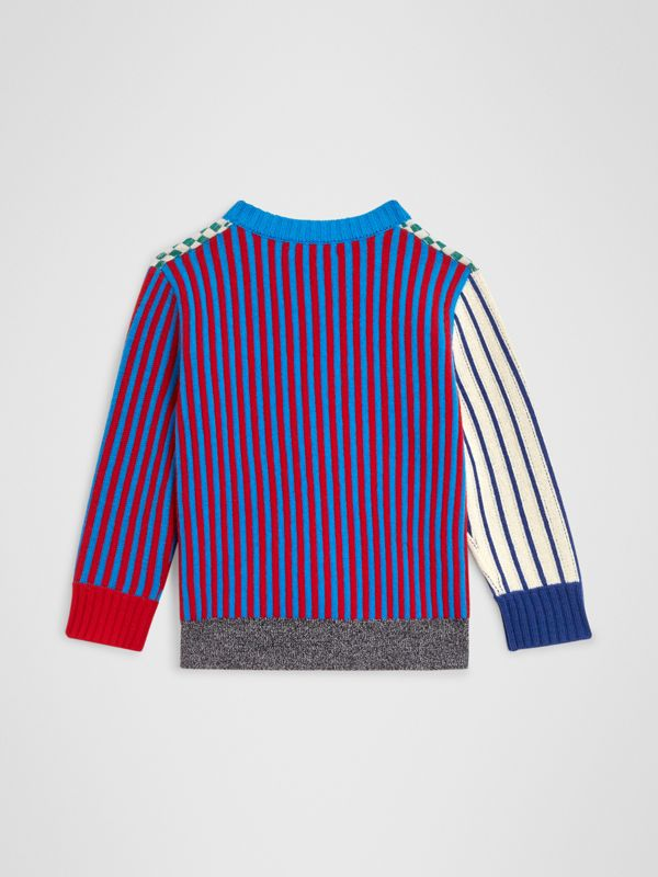 Graphic Cashmere Jacquard Sweater in Multicolour | Burberry - cell image 3