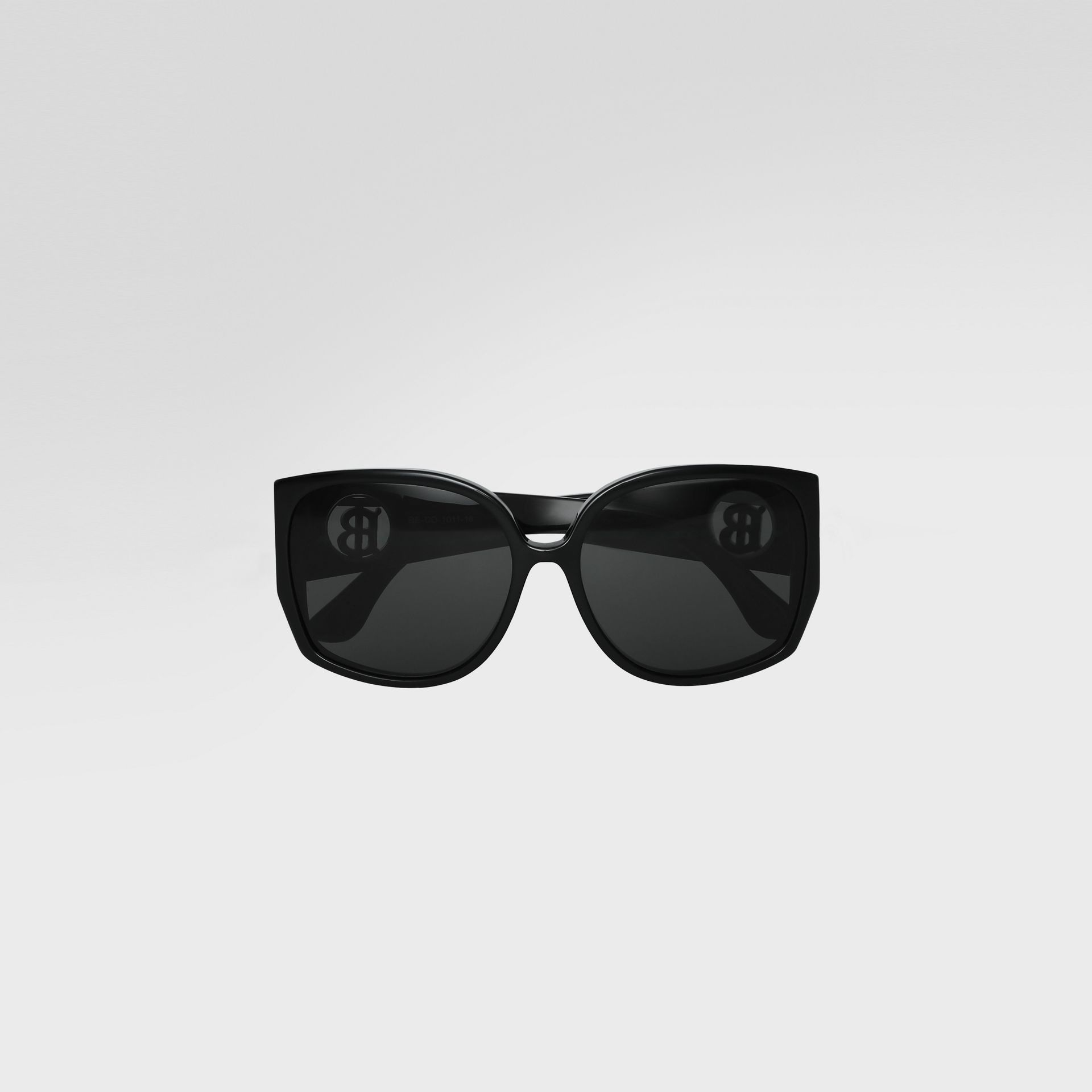 Oversized Butterfly Frame Sunglasses in Black - Women | Burberry - gallery image 0