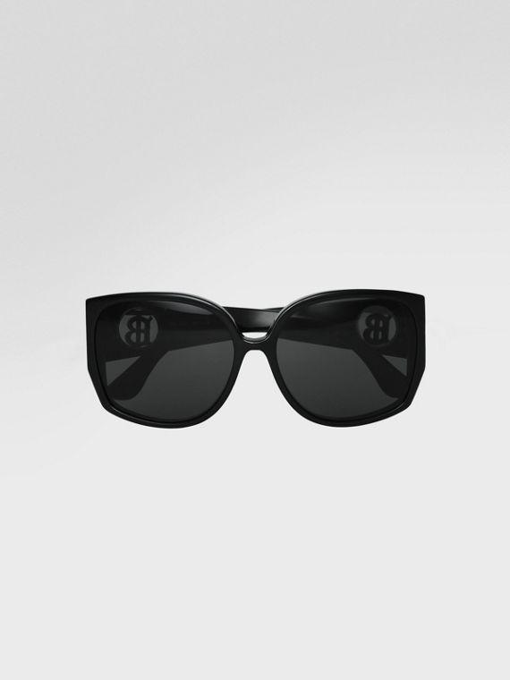 eb55be38aa566 Oversized Butterfly Frame Sunglasses in Black