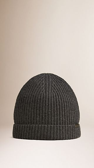 Cashmere Rib Knit Beanie
